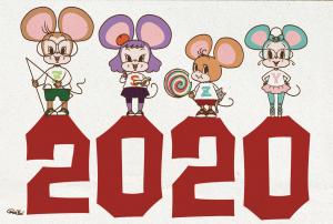 New Year Card 2020 DO!BROKEN!ART!