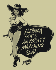 ALABAMA STATE UNIVERSITY FAN ART20190621